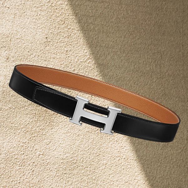 H belt buckle & Reversible leather strap 32 mm