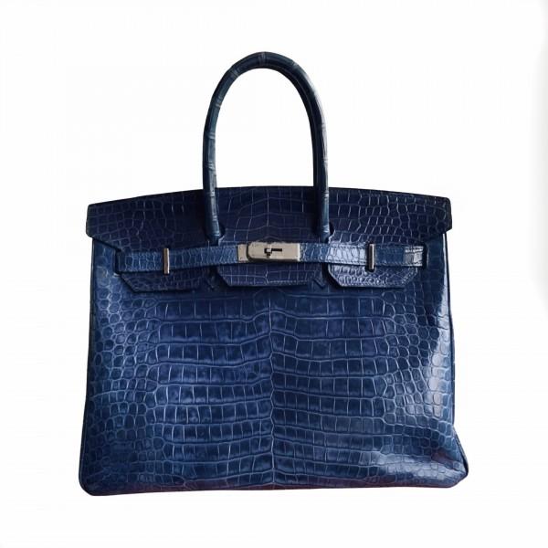 Hermès 35 Blue Brighton