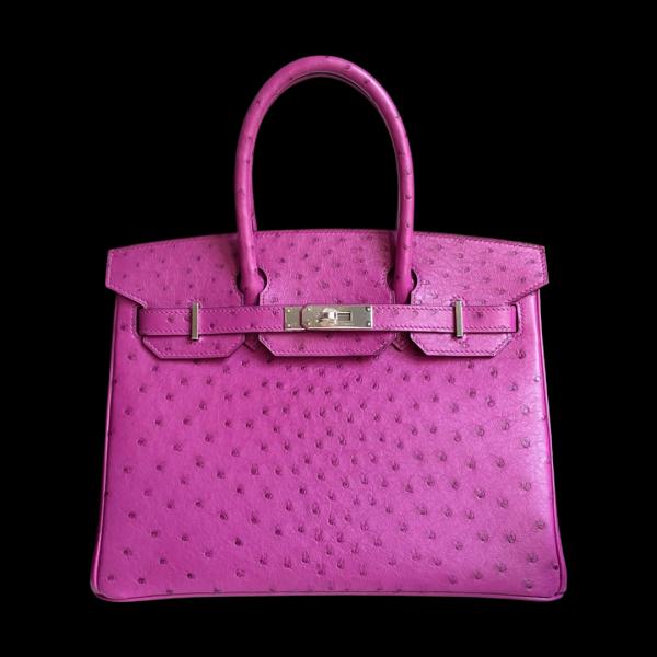 Hermès Birkin 30 Ostrich Rose Pourpre