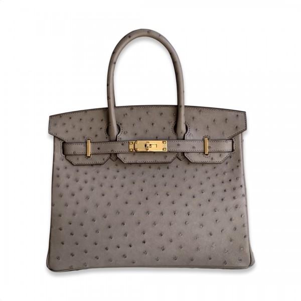 Hermès Birkin 30 Ostrich Gris Asphalte