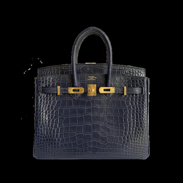 Hermès Birkin 25 Blue Indigo Croco