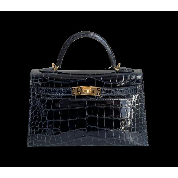 Hermès Kelly 20 Alligator Bleu Saphir