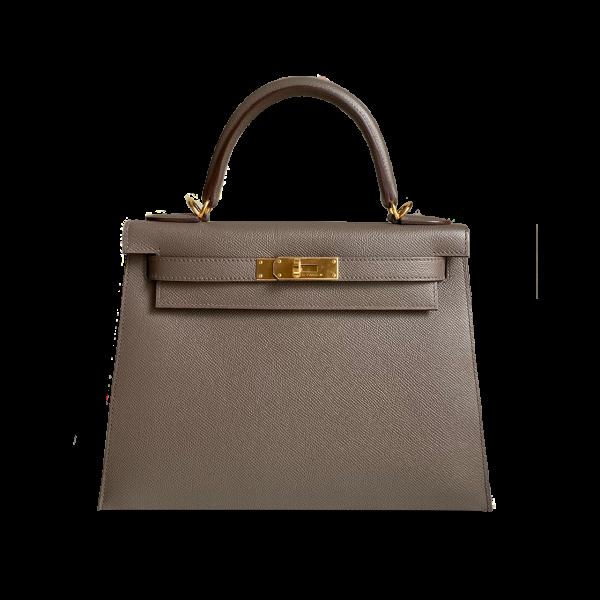 Hermès Kelly 28 Sellier Gris Etain