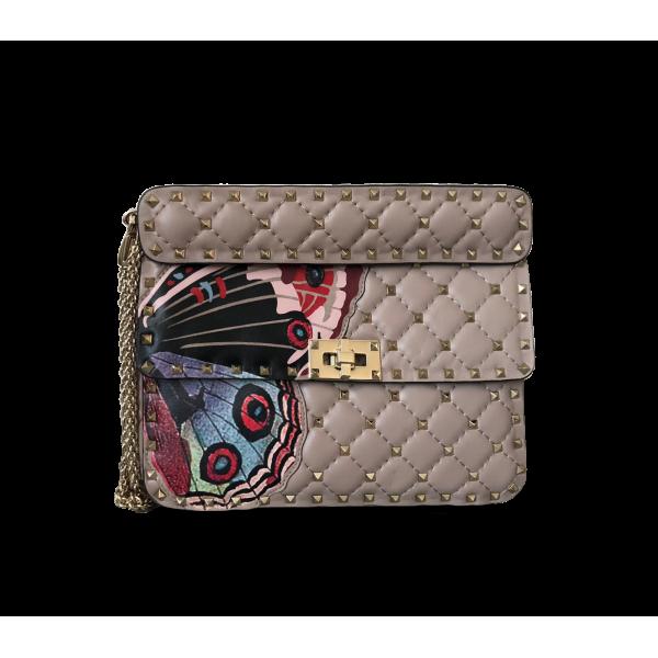 Valentino Rockstud Spike Nappa Leather Bag